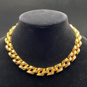 Vintage Gold Chunky Link Necklace